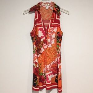 Cache Tropical print Dress Size Small